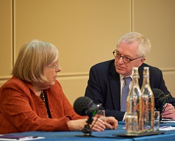 Martin Daunton and Theda at Philomathia Symposium 2017